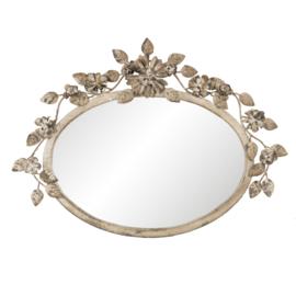 Brocante spiegel ovaal 39*4*30