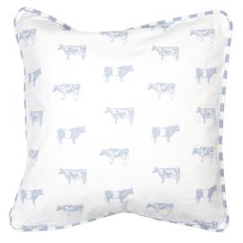 Landelijke kussenhoes met koeien