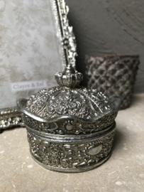 Decoratie doosje oudzilverkleur