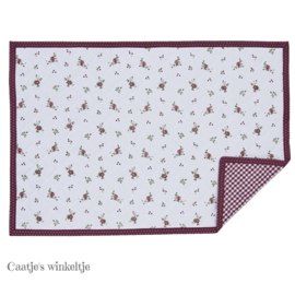 Placemats roosjes rood (6)