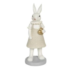 Decoratie konijn meisje met hartje 9*9*20