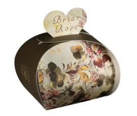 Tasje met 3 hartvormige zeepjes Briar Rose