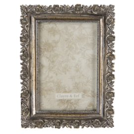 Fotolijst roosjes antiek zilverkleur 10*15