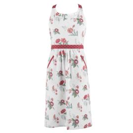 Keukenschort bloemen roze/rood