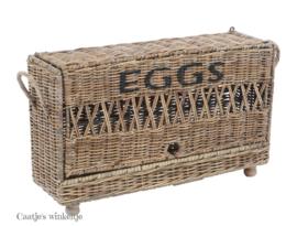 Rieten eiermand voor 24 eieren