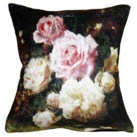 Kussenhoes met rozen 45*45