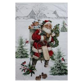 Plaid Kerst tafereel 130*170
