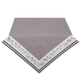 Tafelkleed grijs 100*100