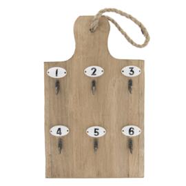 Sleutelrekje hout 21*4*45