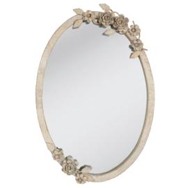 Ovale spiegel rozen 35*3*51