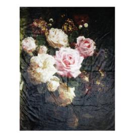 Plaid stilleven met rozen 130*170
