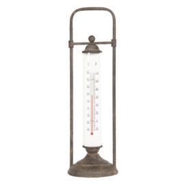 Brocante temperatuurmeter tafelmodel 13*13*43