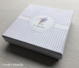 Onderzetters met kurk (6) lavendel