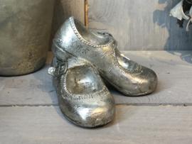 Decoratie babyschoentjes zilver 12*10*7