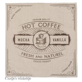 Stoffen servetten Coffee (6) 40*40