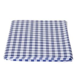 PVC tafelkleed blauw geruit 137*180