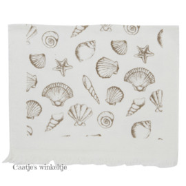 Gastendoekje schelpen Sea Shells natuurtint