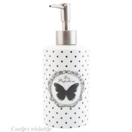 Zeeppompje vlinder zwart/wit