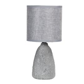 Tafellamp  incl kap grijs 15*30