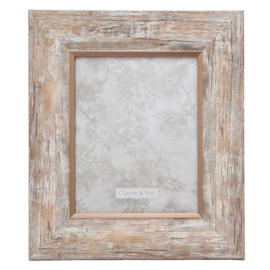Landelijke fotolijst (L) hout look/rosé 20*25