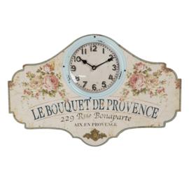 Wandklok Le Bouquet de Provence