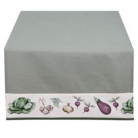 Tafelloper groenten print 50*140