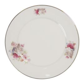 Ontbijt/gebaksbord rozen 21cm