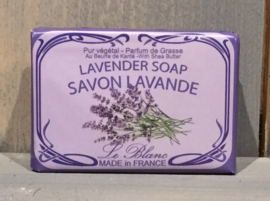 Lavendel zeep verpakt