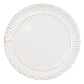 Landelijk ontbijtbord servies Plooi 21*2