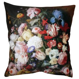 Kussenhoes met bloemen 45*45