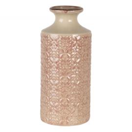 Vaas met motiefje roze 13*30