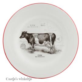 Gebaks / ontbijt bord koe 20 cm