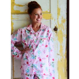 Dames Pyjama bloemen roze Pink Floral M