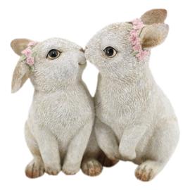 Decoratie kussende konijntjes