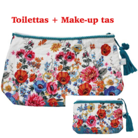Toilettas + Make-uptas Poppy Print