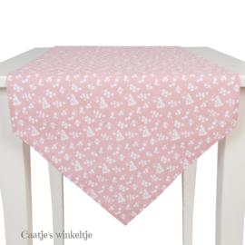 Tafelloper Blossom roze 50*160