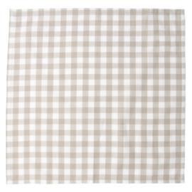 Landelijke servetten geruit natuurkleur (6)