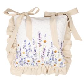 Stoelkussenhoes met ruche Lavender Fields