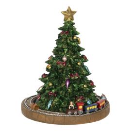 Muziekdoos Kerstboom met trein