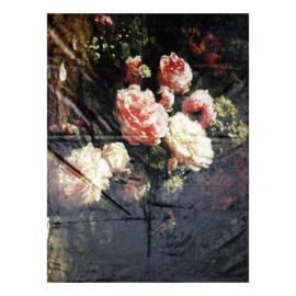 Plaid stilleven met bloemen en rozen 130*170