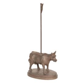 Ijzeren kaarthouder koe