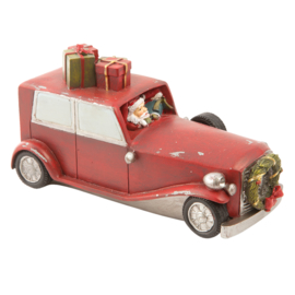 Kerstdecoratie kerstman in auto 19*8*10