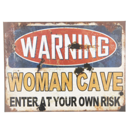Tekstbord Woman Cave 30*40