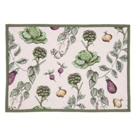 Placemats (6) groenten print 48*33