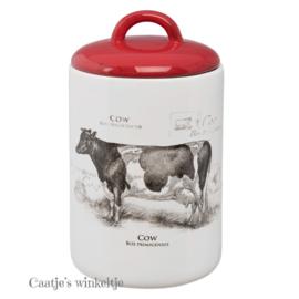 Voorraadpot country koe 21 cm