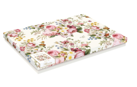 Kunststof placemats (4) Blooming cream
