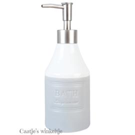 Zeeppompje Bath  grijs/wit