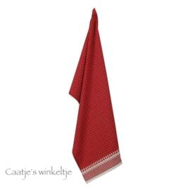 Keukendoek kantje rood wafel