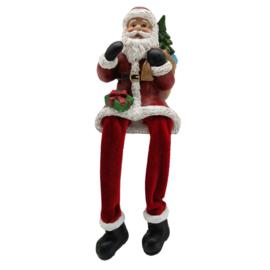 Decoratie Kerstman met bungelende benen
