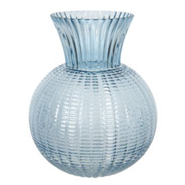 Vaas glas blauw 20*20*25